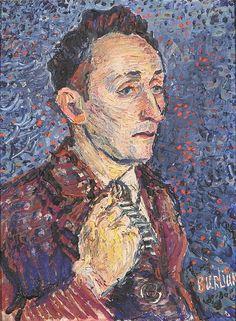 Portrait of Albert Koslow,   David Burliuk