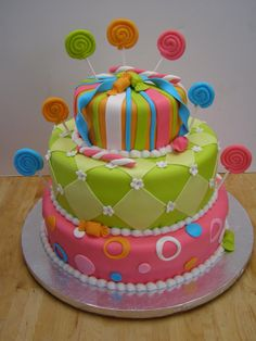Candy themed Cake for Candy Themed Birthday Party=