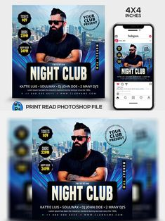 Dj John, Club Flyers, Party Flyer, Flyer Template, Night Club, Thankful, Photoshop, Templates, Creative