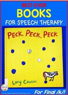Read about my favorite book for articulation therapy! Love using storybooks to teach speech and language? This adorable book is perfect for final /k/ and rhyme too. http://www.speechsproutstherapy.com