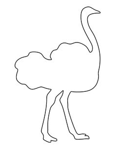 Ostrich pattern. Use the printable outline for crafts, creating stencils, scrapbooking, and more. Free PDF template to download and print at http://patternuniverse.com/download/ostrich-pattern/