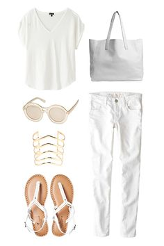 All-White Looks You Can Wear After Labor Day  #refinery29  http://www.refinery29.com/white-clothing#slide3  — SPONSORED —Weekend Warrior  It may still be hot, humid, and gross outside, but you're the picture of breezy cool in this fresh twist on jeans and a tee. The barely there fabric in these skinnies by American Eagle Outfitters makes them breathable enough to wear for an afternoon of hitting up your fave local boutiques. Grab a roomy carryall to stash your new indie finds.