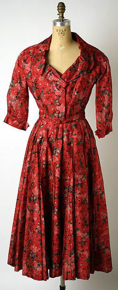 Design House: House of Dior (French, founded 1947) Designer: Christian Dior (French, Granville 1905–1957 Montecatini) Date: spring/summer 1953 Culture: French Medium: silk