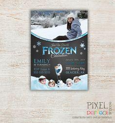 Girls Frozen Birthday Invitation Frozen by PixelPerfectShoppe, $80.00