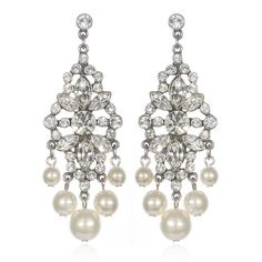 $130   Charm & Chain | Pearl and Rhinestone Deco Chandeliers - Ben-Amun - A-Z Designers - Designers