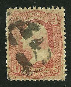 1862 USA Scott #65 Used - 3c Washington, #xxzc
