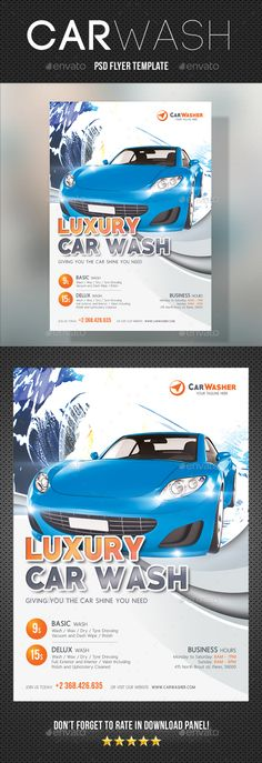 Blank Coupon Templates use on websites splash pages Car Care - car wash flyer template