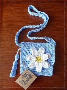 Kouzlo mého domova: Háčkovaná kabelka pro malé slečny Crochet Purses, Crochet Baby, Fun, Crafts, Bags, Totes, Baskets, Key Fobs, Sharpies