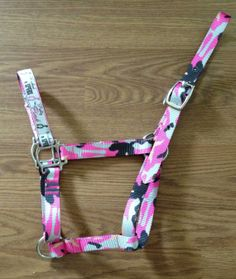 READY TO SHIP Horse Halter Pink Camouflage by EquineDesignShop, $18.00