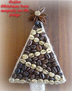 Coffee Christmas trees magnets on the fridge 6