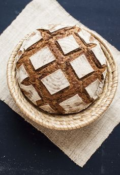 Rye sourdough bread with homemade yogurt
