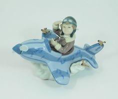 "Lladro ""Over The Clouds"" Porcelain Figurine #5697 Retired Handmade In Spain - pinned by pin4etsy.com"