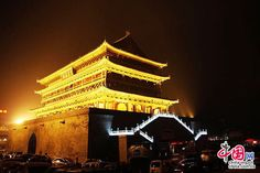 The Drum Tower and Bell Tower, located in the heart of Xi'an, are called sister buildings. They are the symbols of the city. The Drum Tower offers an imposing view of Xi'an. Initially built in 1380, the drums were used to signal the running of time and on occasion were used as an alarm in emergency situations.