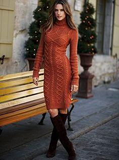 Chic in Strick! Cognacfarbenes Strickkleid (Farbpassnummer 9) Kerstin Tomancok Farb-, Typ-, Stil & Imageberatung