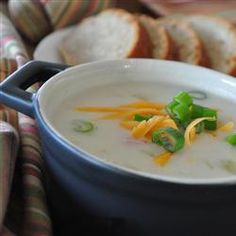 it was the best potato soup I've ever had! I did add a little velveta cheese and a little more flour to make it thicker. Delicious Ham and Potato Soup Recipe Ham And Potato Soup, Ham Soup, My Favorite Food, Favorite Recipes, Low Calorie Recipes, Soup And Salad, So Little Time, Soups And Stews, Guacamole