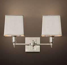 double sconce with shade - Google Search
