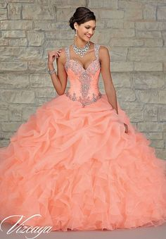 2015 Cheap ᑎ‰ Coral Quinceanera Dresses Masquerade Ball Gowns With Beaded Vestidos ⊰ De 15 Anos Sweet 16 Dresses Hot Sale 2015 Cheap Coral Quinceanera Dresses Masquerade Ball Gowns With Beaded Vestidos De 15 Anos Sweet 16 Dresses Hot Sale Xv Dresses, Quince Dresses, Ball Dresses, Prom Dresses, Formal Dresses, Dresses 2016, Formal Prom, Wedding Dresses, Formal Wedding
