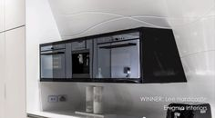 Staron Design Awards 2013 - interesting the  splash-back/back wall is angled and the oven etc emerges from it