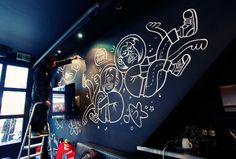 Sid Lee Chalk Mural on Behance