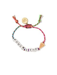 This is such an obvious choice <3 POWER 2 THE PIZZA BRACELET