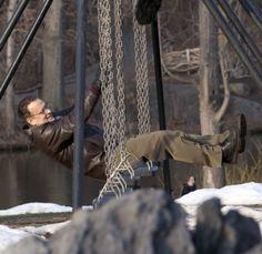 Sandra Bullock and Tom Hanks on the set
