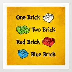 One Brick, Two Brick Art Print by powerpig - $18.00