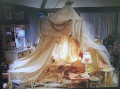 I like this color pallet for a little girl's room---the off-white and the rose...would make a cute shabby chic