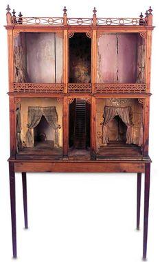Early dollshouse know as 'Spanish House' ... mid-nineteenth century