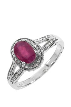 0.80 CTW Ruby Gold Ring | Brandsfever