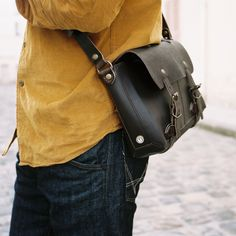 Bleu de Chauffe | Men | Leather satchel bag | Louise Plumber Bag | Made in France