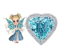 blue fairies, alphabets, png alphabet, A-Z, heart alphabet
