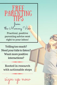 Get our positive/gentle parenting tip of the week delivered to your inbox every Monday! Start your week off on the right foot.