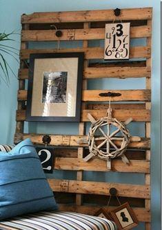 DIY Möbel aus Europaletten – 101 Bastelideen für Holzpaletten - holz paletten möbel selbst basteln DIY ideen  wandgestaltung