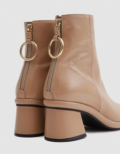 c91da34bf4ae2  Chunky  Flat shoes Trending Street Shoes Nude Ankle Boots