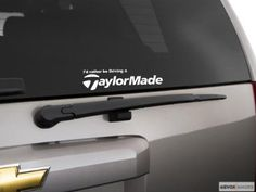 I'd rather be driving a Taylormade golf decal sticker Vinyl color,$3.99