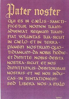 Catholic Our Father in Latin