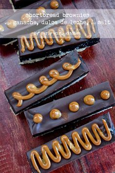 Curly Girl Kitchen: Shortbread Brownies with Ganache and Dulce de Leche