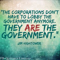 Sadly this IS our reality. It is so evident, as our Greedy Paid Puppet Politicians continue to cater to the Greedy Rich Corporate Welfare moochers!! Cut all these pigs from the trough!!