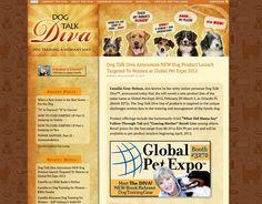 "Sonoma County Web Design: Blog Design for Dog Talk Diva. Fun header with dogs ""talking"" http://www.dogtalkdiva.com/"