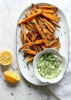 Plan to Eat - Crispy Cornmeal Sweet Potato Fries - MarlaJ