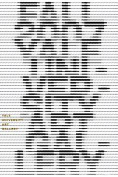 Venetian blind typography