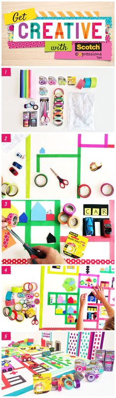 Here is a great DIY project for you and your kids! Using Scotch® Expressions Tape create this easy to do Kid's Play Mat. Great for tactile learners! For the step by step tutorial visit:  www.3mgetcreative.com.au or www.3mgetcreative.co.nz  #ScotchTapes #Creative #Fun #Happy #Kids #CreativityFound #Tactile