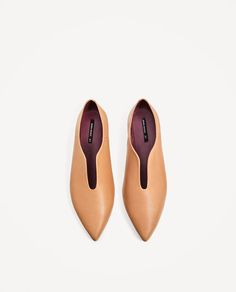 Image 4 of FLAT POINTY LEATHER SHOES from Zara