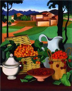 Auguste Herbin (French: 1882 - 1960)   Cherries   Cubism, Post-Impressionism