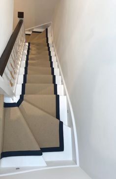 To supply & install Fibre Wool Herringfine Bank to stairs and landings, with Westex Fontaine Alabaster installed in the rooms. Carpet Fitting, Stair Runners, Wool Carpet, Carpet Stairs, Landing, Real Estate, Interior Design, Home Decor, Design Interiors