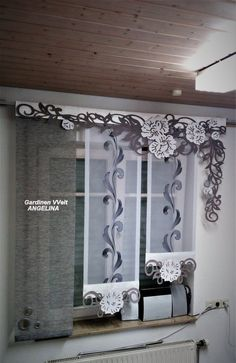 – Shopname: Gardinen Welt Angelina Hello there is n - Sliding Curtains, Home Curtains, Modern Curtains, Kitchen Curtains, Old Country Decor, Living Room Decor Country, Kitchen Curtain Designs, Pallet Designs, Western Decor
