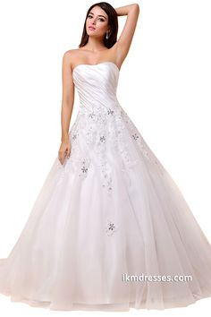 http://www.ikmdresses.com/Strapless-Wedding-Dresses-Lace-Appliques-Bridal-Gowns-p88036