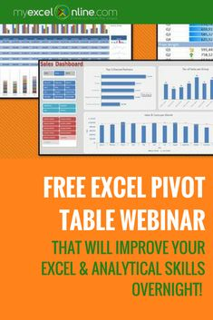 Overcome Your Fears & Learn Excel Pivot Tables In 1 Hour! | Learn Microsoft Excel Tips + Free Excel Tutorials & Cheat Sheets | The Most In-Depth Excel Video Courses Online at http://myexcelonline.thinkific.com/