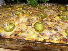 Mexican Beef Casserole 1 lb extra lean ground beef or sirloin 1/2 cup onions chopped (we used 1 onion) 1 can rotel with chilies 1 can kernel corn drained 1 can...
