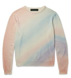 The subtle color on this cashmere sweater from The Elder Statesman will get you through a bleak winter.
